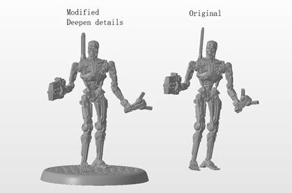 Render of a Command T-800 miniature from Terminator Genisys: Rise of the Resistance by River Horse