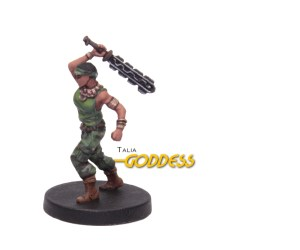 Painted example of Goddess (Modern) from Highlander The Board Game by River Horse