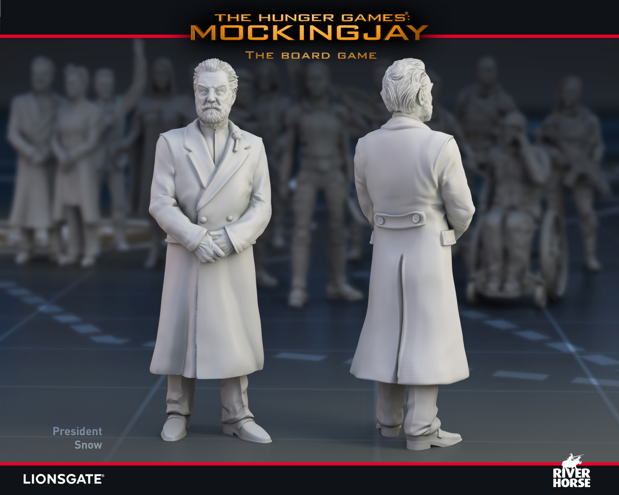 Render of President Snow for The Hunger Games: Mockingjay - The Board Game by River Horse