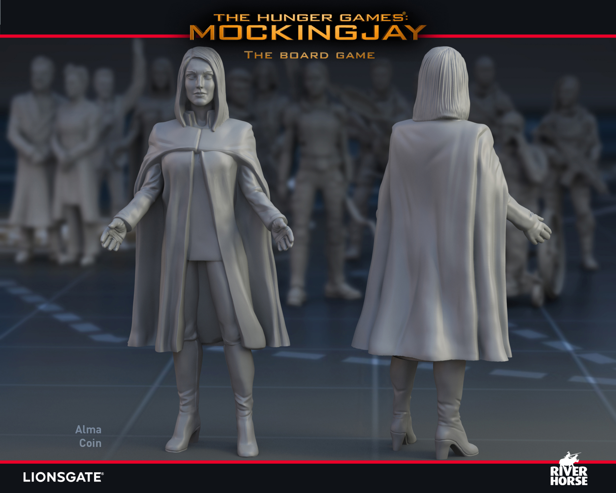 Render of President Alma Coin for The Hunger Games: Mockingjay - The Board Game by River Horse