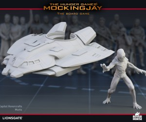 Render of Mutts and The Hovercrafts for The Hunger Games: Mockingjay - The Board Game by River Horse