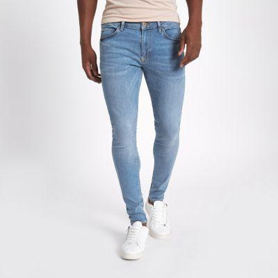 Light blue Ollie super skinny spray on jeans  Spray On