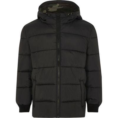 Boys Black Puffer Coat - Coats & Jackets