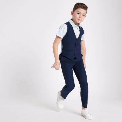 Boys navy suit waistcoat  Waistcoats  Suits  boys