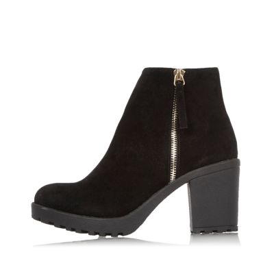 Black Block Heel Ankle Boots Boots Shoes Boots Women