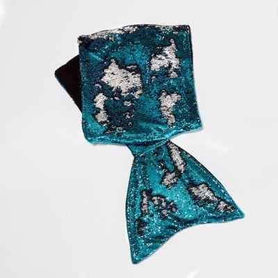 Blue Sequin Embellished Mermaid Blanket Novelty And