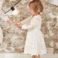 Mini girls white lace flower girl dress - Baby Girls ...