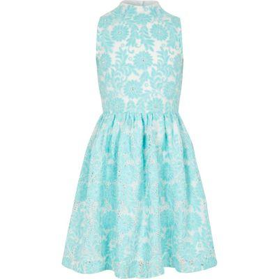 Girls blue high neck lace prom dress  Dresses  Sale  girls