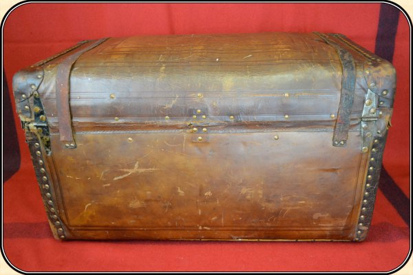 Sold Leather Stagecoach Trunk