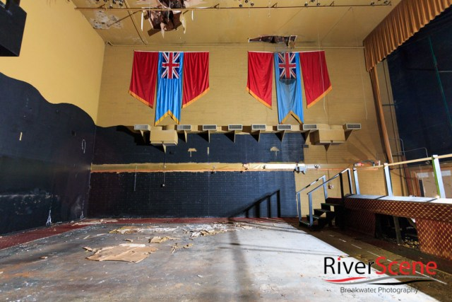 A view inside of the English Village theater two months before it was torn down. Nathan Adler/RiverScene