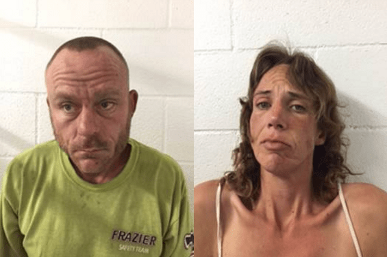 Arrested for burglary, were John Michael Cadogan a 39-year-old transient and Susan Young a 40-year-old transient. Both Cadogan and Young were being held on $5000 Bail.