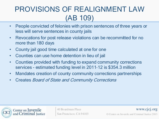 AB 109 forced the transition of responsibility for countless felons from the state level to an already overburdened county level.