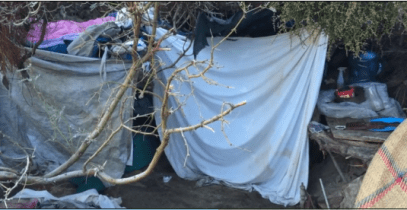 A typical homeless encampment found during last year' PIT count.
