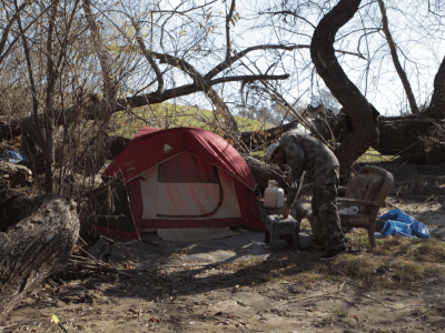 Homeless encampment in Temecula. Patch photo.