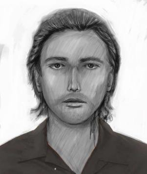 Composite sketch of suspect who attacked a woman in Riverside.