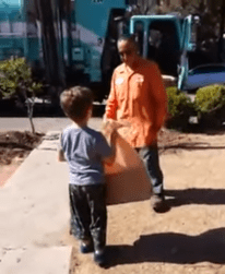 Daniel, who was 5-years-old when this video was first shared in 2014 receives an unexpected gift from his favorite garbage collector Manuel.