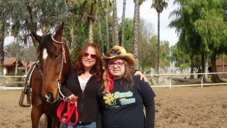 Sara met many new friends during her visit to Invicta Farms.