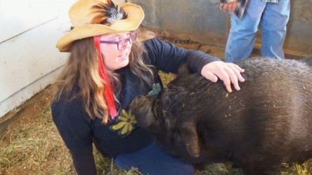 Sara met many fun and friendly animals during her visit.