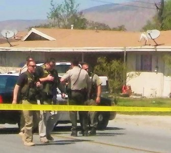 Sheriff's deputies from San Jacinto PD are currently investigating a shots fired call, that has caused the lock down of at least one area school. JP Kemp / Epicenter News photo