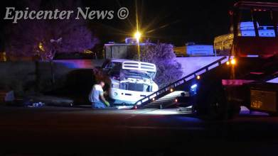 The truck was impounded as evidence. Miguel Shannon / Epicenter News photo