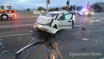 The driver of a white Honda involved in the T-bone collision reportedly fled the scene.Miguel Shannon / Epicenter News photo
