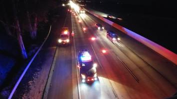 Traffic lanes on the freeway were partially closed while emergency crews worked to help the victims in the accident.Willaim Hayes / Epicenter News