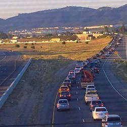 Traffic on I15 through Temecula was reportedly affected for hours, following a pursuit and roll-over accident that ejected two juvenile suspects. Raquelita Almarez photo
