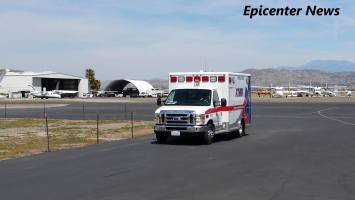 """The victim of the parachute failure was transported to a local hospital with what a fire official described as """"moderate"""" injuries.William Hayes / Epicenter News photo"""