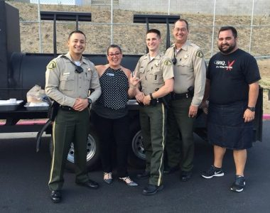 "Slow cooked, ""Southern Style"" tri-tip, ribs and brisket were all the rage and kept the deputies coming back for more."
