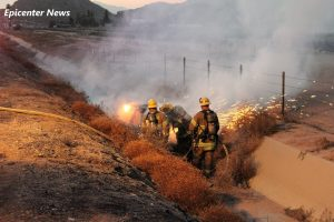Fire personnel quickly controlled the blaze. William Hayes / Epicenter News