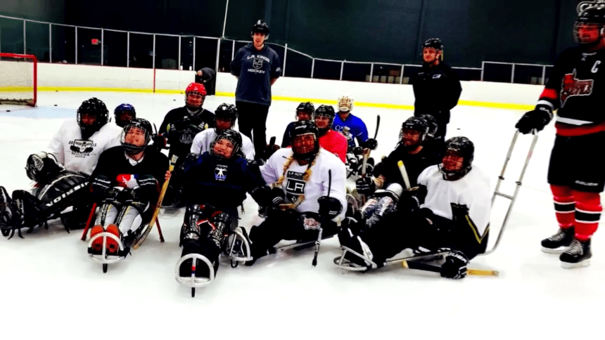 Sara joined the L.A. Kings Sled Hockey Team for the day and had a frozen blast!