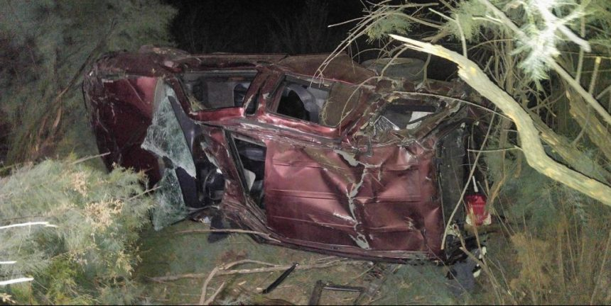 Two men were injured when their SUV rolled numerous times 100 down a steep embankment off Soboba Road. Miguel Shannon / Epicenter News