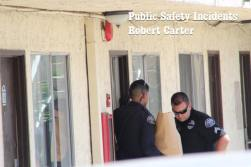 Hemet Police officers disovered a loaded handgun and recovered the stolen alcohol. Robert Carter photo