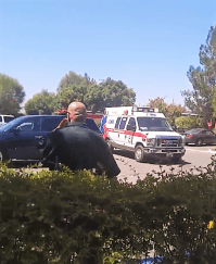 At least four people were hospitalized after an unknown chemical was released at the DPSS office in Lake Elsinore. Chelsea S. photo