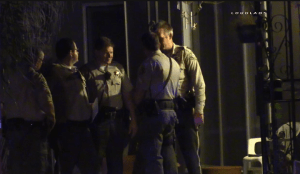Sheriff's officials discuss the deadly shooting. William Hayes & Miguel Shannon video screen