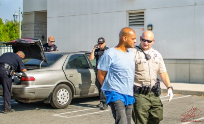Because the vehicle was stolen from A San Jacinto business, sheriff's deputies took him into custody. John Strangis photo