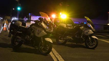 Motor officers and other deputies responded to the multiple collisions. William Hayes photo