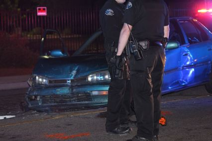 James Avalos used his stolen Honda to ram two police vehicles while fleeing. Will Whelan photo