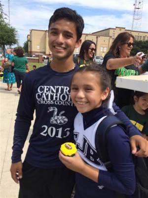 Addie Rodriguez and Matthew Garcia, photographed together after the touching moment.
