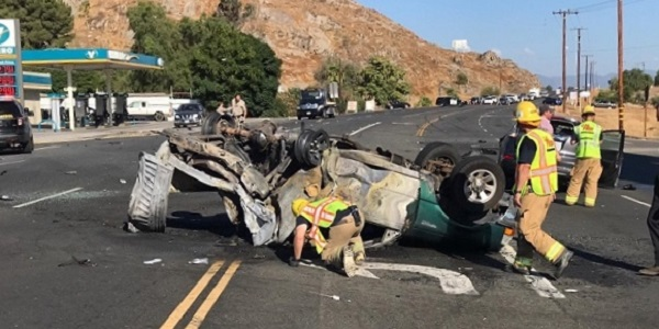HOMELAND: One killed, one arrested, after fiery, rollover accident