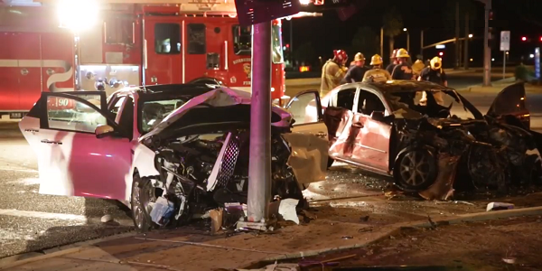 PERRIS: DUI suspected in fiery, 2 car crash that hospitalized 3