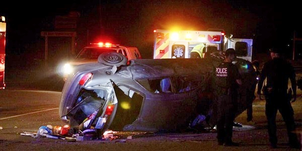 HEMET: Woman hospitalized after high-speed pursuit ends in rollover crash