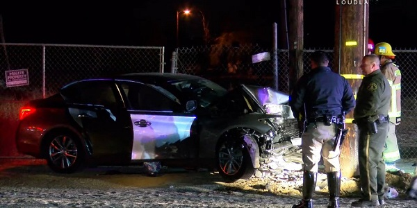 MEAD VALLEY: Woman arrested, small child critically injured, after vehicle slams into pole