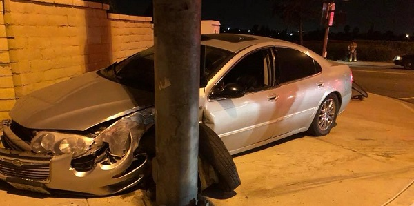MORENO VALLEY: Drunk PRCS probationer crashes into pole, arrested for third DUI