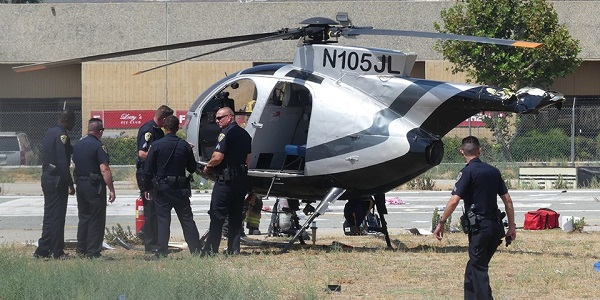 RIVERSIDE: Helicopter suffers hard landing during flight training, pilot reportedly ejected