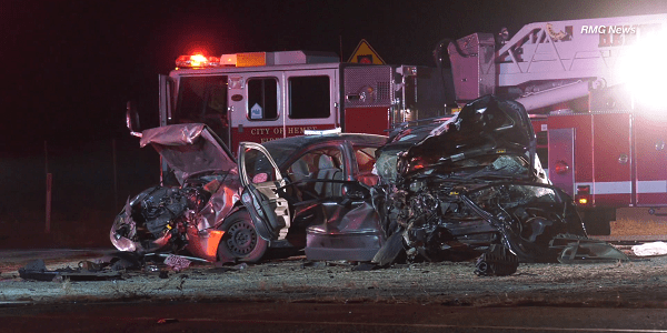 Three hospitalized after Hemet head-on crash