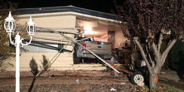 2 displaced after stolen truck plows into, destroys Hemet home