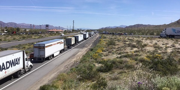 Overturned big-rig near Desert Center causes I-10 nightmare