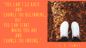 C.S. Lewis quote with walking feet