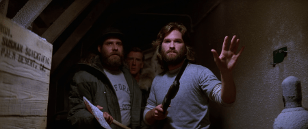 MacReady_and_Clark_approach_the_kennels_-_The_Thing_(1982)